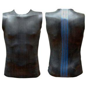 Sleeveless T Blue Striped Back