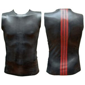 Sleeveless T Red Striped Back