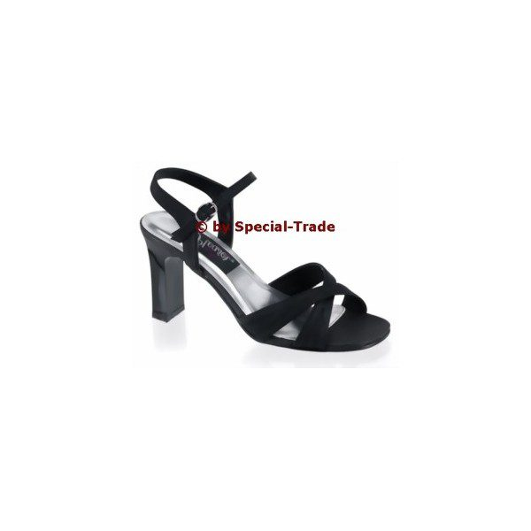 Sandal black satin