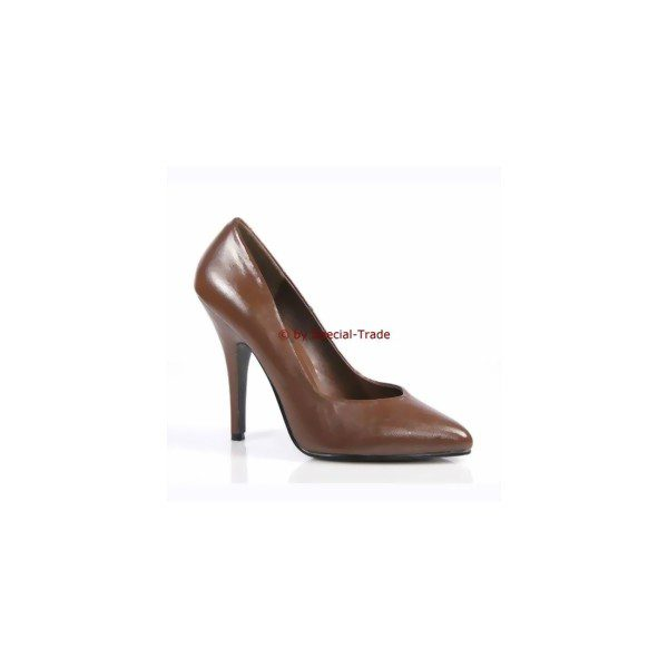 Brown pumps made from real leather