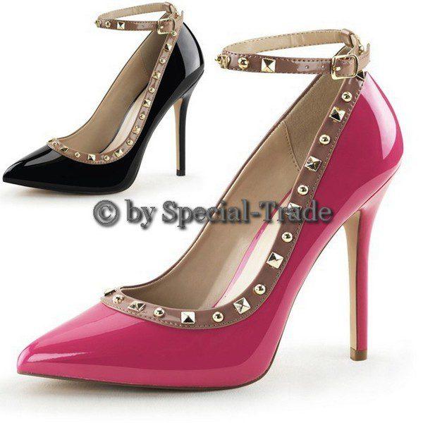 Sling Pumps black or pink