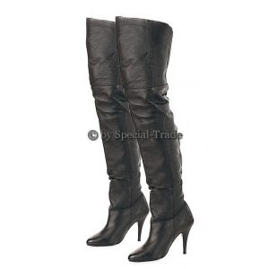Awesome real leather overknee boots