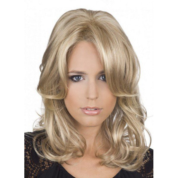 Carmen Lace - laceform - feminine wig, blonde streaked