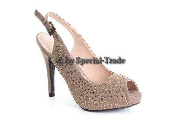 Very nice and elegant slingback peep-toe