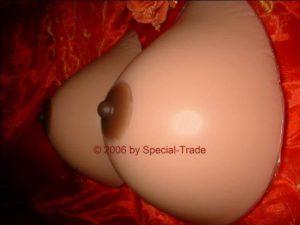 Silicone fake boobs, size F+